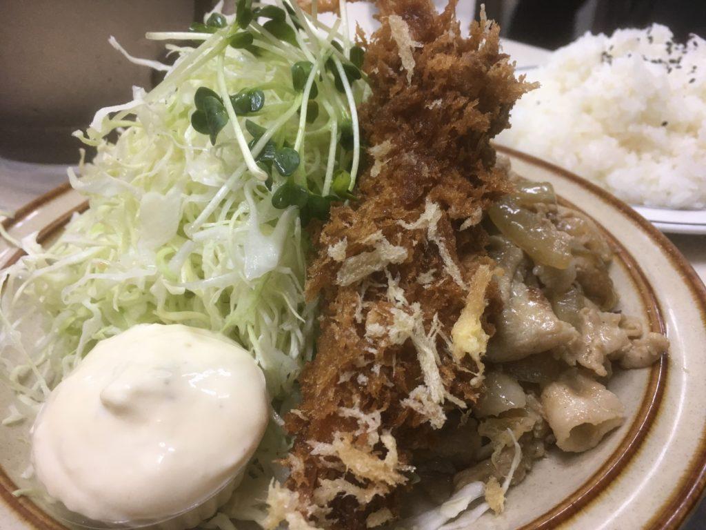 エビフライ・生姜焼き